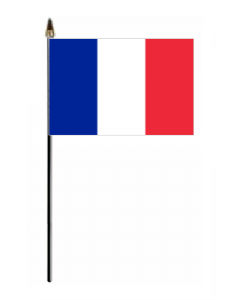 France Country Hand Flag - Small.